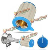 Регулятор громкости Поворотная ручка мини-колпачок для 8 мм диам накатанной вал потенциометра