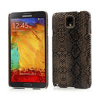 "Чехол накладка пластиковый на на Samsung Galaxy Note 3 N9000, ""Коричневая змея"""