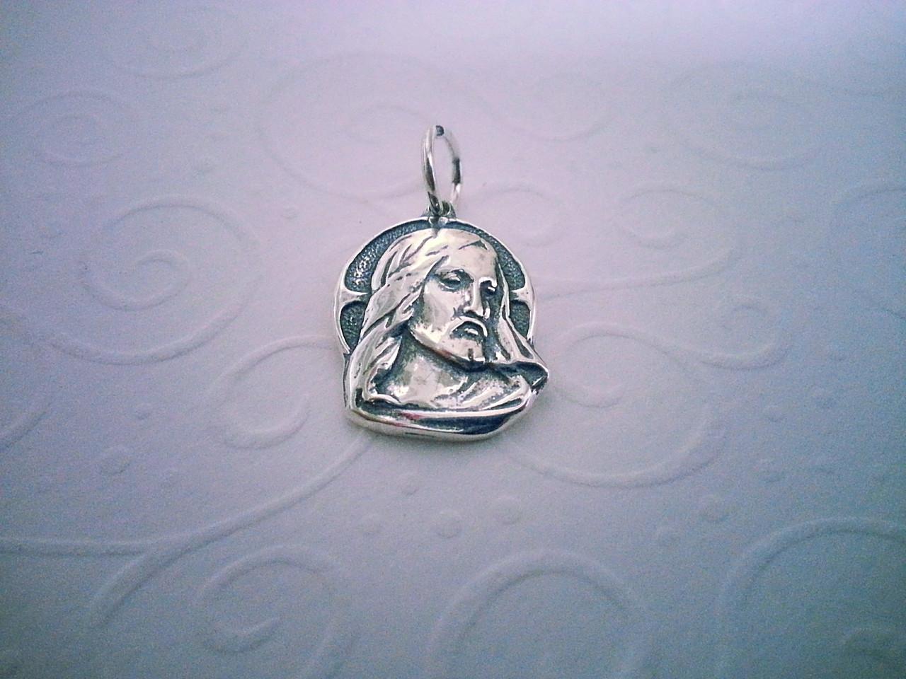 """Серебряная ладанка """"Иисус Христос"""""""
