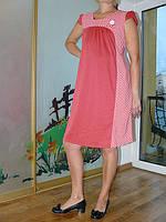 Платье трикотажное для беременных розовое и очень удобное 4400
