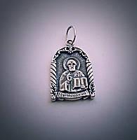 """Серебряная ладанка """"Св. Николай Чудотворец"""""""