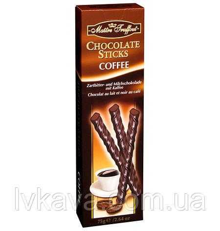 Черный шоколад Chocolate Sticks Coffee  Maitre Truffout  , 75 гр, фото 2