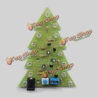 Рождественская елка красочная вспышка LED электронный комплект изучения DIY