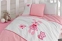 Постельное белье для детской кроватки Cotton Box вышивка Minik Tavşan