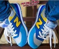 Кроссовки мужские синие с желтым