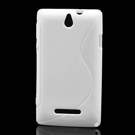 Чехол TPU S формы на Sony Xperia E Dual C1605 , белый