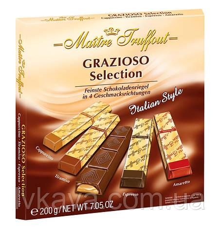 Черный и молочный  шоколад Grazioso Selection Italian style  Maitre Truffout  , 200 гр, фото 2