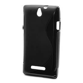 Чехол TPU S формы на Sony Xperia E Dual C1605, черный