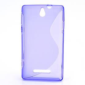 Чехол TPU S формы на Sony Xperia E Dual C1605 , фиолетовый