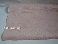 Сиренево розовая жатая бумага с золотым напылением на метраж (лист50см*70 см)