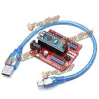 Схема atmega328p Arduino совместимая нано В3 + нано щит плата расширения комплект