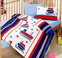 Постельное белье для детской кроватки Cotton Box Denizci Mavi