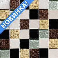 Мозаика для кухонного фартука Vivacer Mix Biege