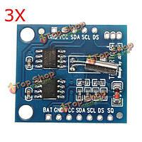 3шт i2c rtc ds1307 at24c32 реальном времени часы модуль для avr руку ПОС SMD