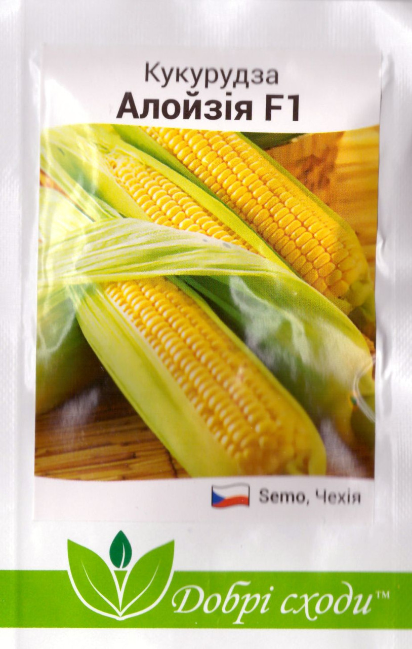 Насіння кукурудзи цукрової Алойзия 3г ТМ ДОБРІ СХОДИ