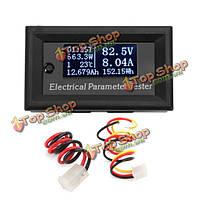 Многофункциональная белый O LED цифровой тестер электрических параметров амперметр 10A 7 в 1 33V