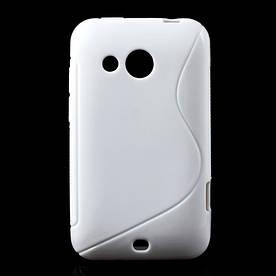 Чехол силиконовый S формы на HTC Desire 200 102e, белый