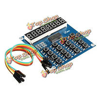 TM1638 Микроконтроллер 8бит LED цифровая клавиатура трубки модуль сканирования и модуль дисплея