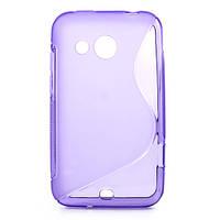 Чехол силконовый S формы на HTC Desire 200 102e, фиолетовый