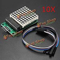10шт MAX7219 точка модуль MCU матрица LED Модуль управления для Arduino комплект