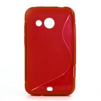 Чехол силиконовый S формы на HTC Desire 200 102e, красный