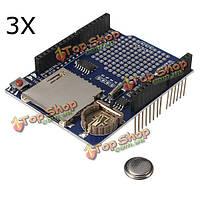 3шт каротажный регистратор модуль регистрации данных щит для Arduino UNO SD Card