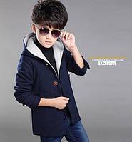 Пальто детское кашемировое для мальчика подростка