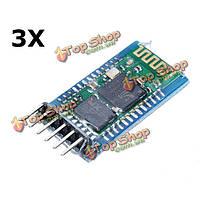 3шт HC-05 Беспроводная связь Bluetooth  последовательный модуль с опорной плитой для Arduino