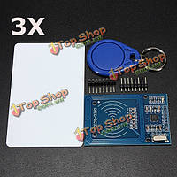 3шт rc522 микросхема индукции карты RFID считыватель модуль