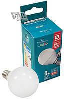 LED лампа светодиодная Titanum G45 5W E14 4100K 220V, фото 1