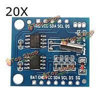20шт i2c РТК DS1307 AT24C32 реальный модуль часов время для АРН руки ПИК SMD