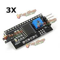 3шт IIC/I2C/тви/зр последовательный интерфейсный модуль порта для 5V Arduino 1602LCD  дисплея