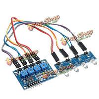 LM339 3.3v-5V 4-канальный фотодиод детектор Переключатель управления освещением светочувствительный модуль датчика для ardiuno