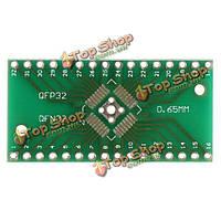 Qfn32 qfp32 конвертер SMD окунуть Адаптер PCB универсальный совет