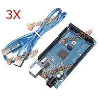 3шт mega2560 r3 atmega2560-16au + cn340 правление с USB для arduino