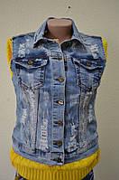 Жилетка джинсовая LАDY FORGINA 103-106-243-1