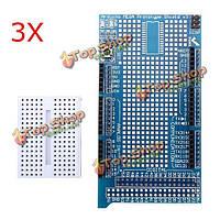 3шт mega2560 1280 прото щит В3 платы расширения с макетной плате для Arduino