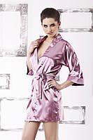 Розовый сатиновый халат 90 TM Dkaren (Польша) Отличное качество, быстрая отправка!