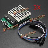 3шт MAX7219 матричный модуль MCU LED Модуль управления для Arduino комплект