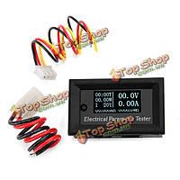 Многофункциональная белый O LED цифровой тестер электрических параметров амперметр 10A 7 в 1 100v