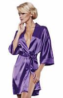 Фиолетовый сатиновый халат 90 TM Dkaren (Польша) Отправка в день оплаты!
