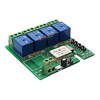 5V DIY четыре канала толчкового толчковой самоблокирующийся Wi-Fi беспроводной умный переключатель домой