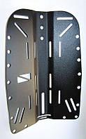 Спинка аллюминиевая с прорезями BS Diver  (чёрное анодирование)