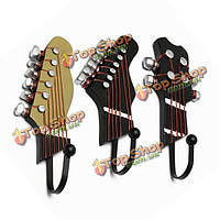 3шт гитара начальник настенные крючки музыкальный стиль украшения