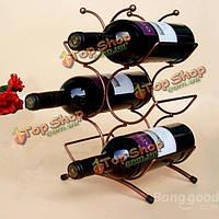 6 винных бутылок хром держатель для хранения и отображения стенд