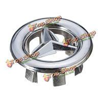 Раковина ванной бассейна хромированной отделкой отверстие перелива круглая крышка серебро