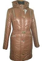 Модная женская куртка шоколадного цвета
