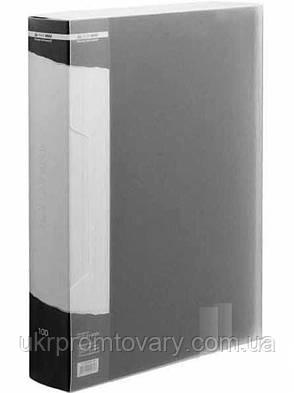 Папка з 100 файлами А4 (у чохлі), чорнийBM.3633-01, фото 2