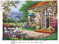 Схема для вышивания бисером Райский дворик