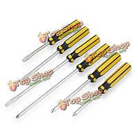 6шт желобивший и отвертка головы phillips устанавливает мягкий набор инструментов ручек власти
